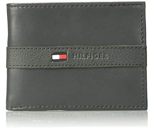 Tommy Hilfiger Men's Ranger Leather Passcase Wallet, Gray
