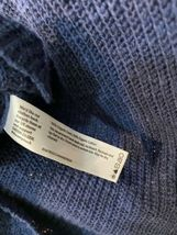 Eileen Fisher Blue Large Knit Cardigan Sweater Zip Front Organic Linen Cotton image 4