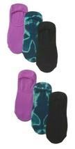3 Paquete HUE Mujer Corbata Teñido Hidden Forro Calcetines Pacific Nuevo Con Tag image 2