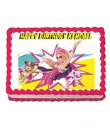 BARBIE in Princess Power party edible cake image cake topper frosting sheet - $7.80