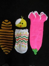 Hand Gestrickt Baby Bunting Easter Chick Hummel Tulpe Baby Kleidung - $15.87
