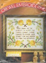 Vintage Pauline Denham #6002  Prayer Sampler - Crewel Embroidery Kit - NIP - $18.81
