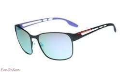 Prada Men Sunglasses PS52TS DG0140 Black Rubber/Multicolor Mirror Lens 59mm - $218.25
