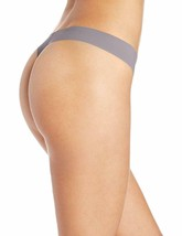 Calvin Klein Women's Invisibles Silver Lock Thong Panty D3428-073 image 2