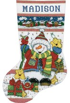 Design Works Snowman Fun Christmas Holiday Gifts Cross Stitch Stocking K... - $29.95