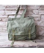 Vintage Military Bag,Green Cotton Canvas Messenger Bag,Army Bag,Crossbod... - $25.00