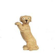 Dollhouse Miniature 1:12 Scale Polyresin Dog Begging #B0027 - $1.20