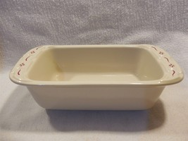 "Longaberger Pottery Woven Traditions Red Mini 8"" Loaf Pan - $7.95"
