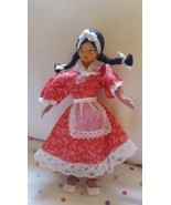 Vintage Doll Side Glancing Side Eye with braids brown skin apron pre-owned - $14.03