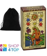 SPANISH TAROT ESPANOL CARDS DECK ESOTERIC DIVINATION FOURNIER WITH VELVE... - $18.11