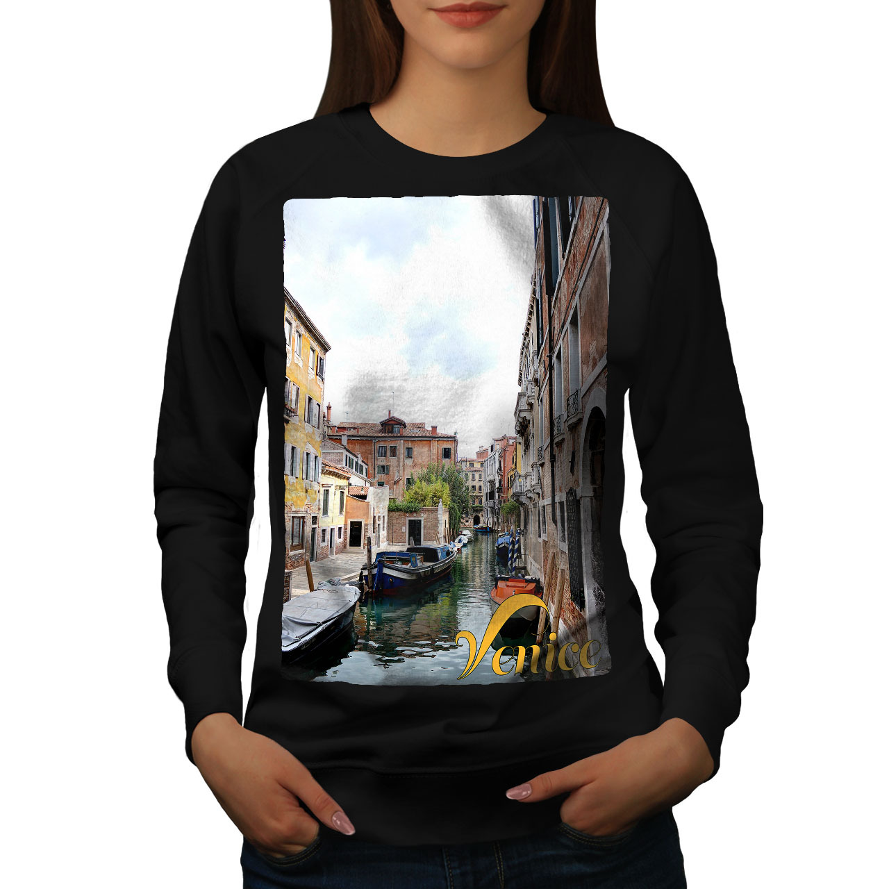 Primary image for Old Venice Canal Tour Jumper Italy Town Women Sweatshirt