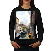Old Venice Canal Tour Jumper Italy Town Women Sweatshirt - $18.99