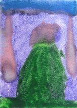 """Original Abstract Watercolor Painting """"Evergreen"""" ACEO by 6 Year Old Art... - $7.99"""
