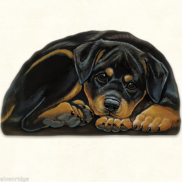 Small Rottweiler puppy pupperweight paperweight USA made