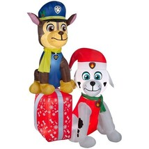 CHRISTMAS AIRBLOWN® INFLATABLE PAW PATROL SCENE WITH MARSHALL AND CHASE 7' - $130.05