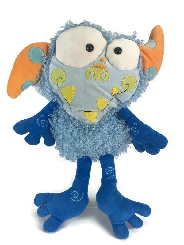 Primary image for Manhattan Toy EENIE MEANIE Monster Galoompagal Blue Shaggy Plush Nostalgic Toy