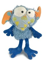 Manhattan Toy EENIE MEANIE Monster Galoompagal Blue Shaggy Plush Nostalg... - $29.69