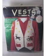 Dimensions Vest Appliques Kit CHRISTMAS EVE 62002 Fashion Art Felt - $14.84