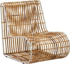 Occasional Chair DOVETAIL MELO Pearl White Rattan Iron - $929.00