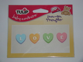 TULIP - baby couture Iron-on Applique - Candy Love - $8.00