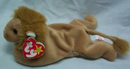 "TY Beanie Babies ROARY THE LION 8"" Bean Bag STUFFED ANIMAL Toy 1996 - $14.85"