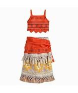 Disney Store Moana 2pc Hawaiian Luau costume dress SIZE 7/8  - $29.65