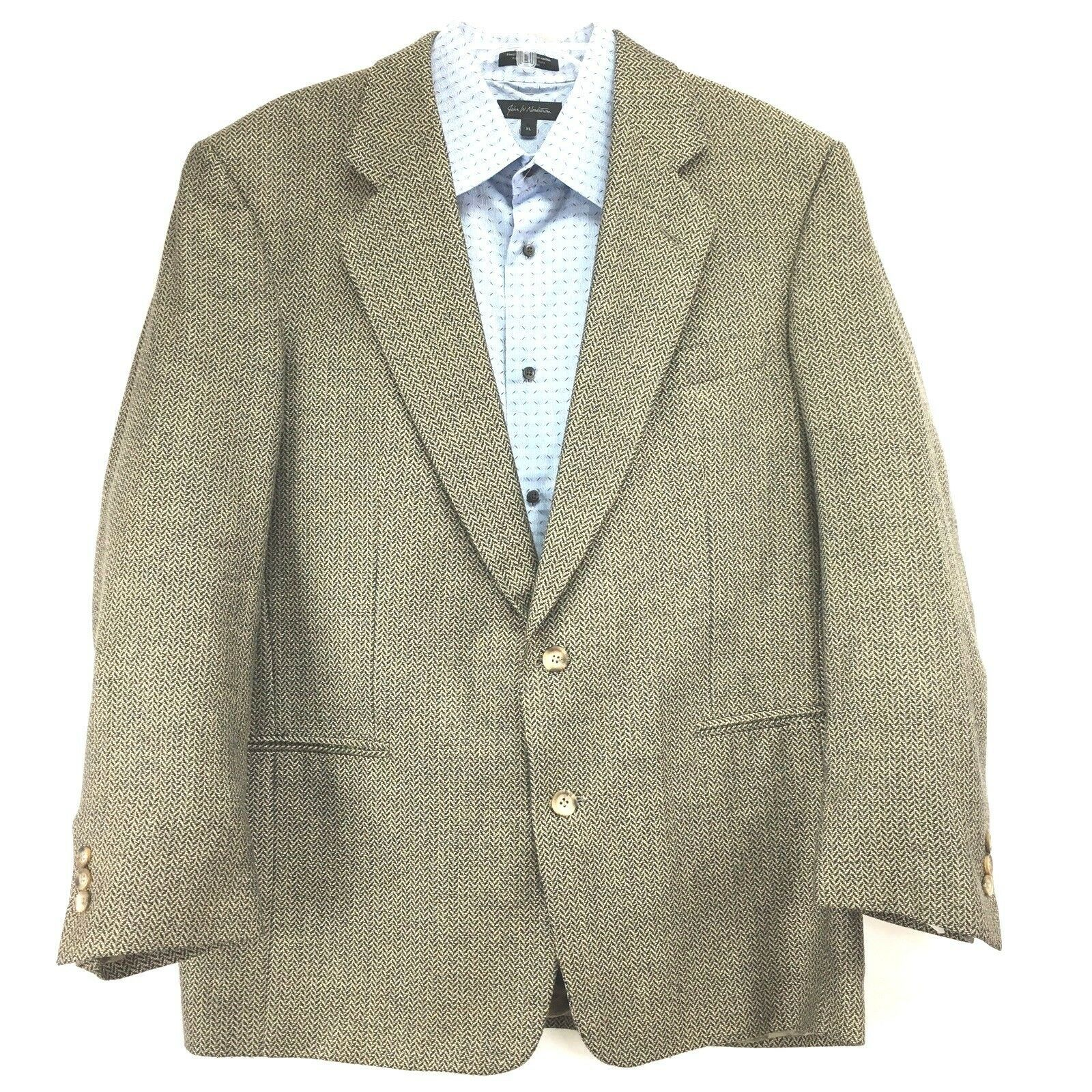 Primary image for VITO RUFOLO Mens Sport Coat Jacket 44R Silk/Wool Brown