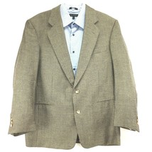 VITO RUFOLO Mens Sport Coat Jacket 44R Silk/Wool Brown - $38.54