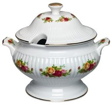 Royal Albert Old Country Roses Covered SOUP Vegetable Tureen - $233.74