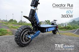 Electric Scooter TNE Creator Plus 3600w 60v 26ah Lithium Battery Dual Hub Motors image 13