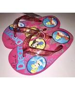Disney Princess Girls Flip Flops Pink Glitter Sandals Belle Ariel Cinderella NWT - $13.27