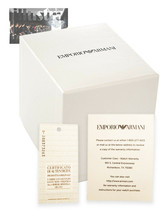 Emporio Armani Empty Watch Display Box & Booklet Only - £15.22 GBP