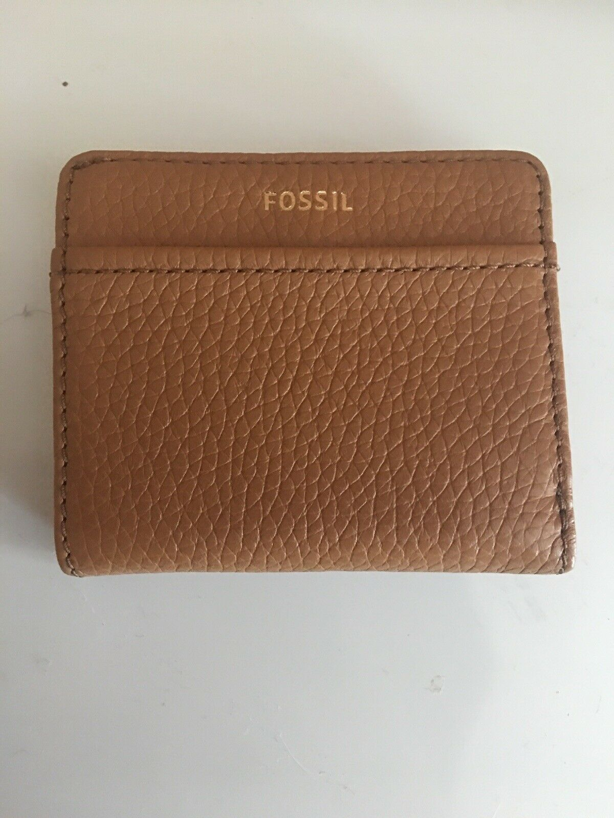 FOSSIL TESSA Leather Bifold Wallet Women's Medium Cognac New NWT