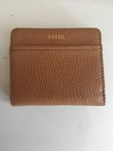 FOSSIL TESSA Leather Bifold Wallet Women's Medium Cognac New NWT - $30.00