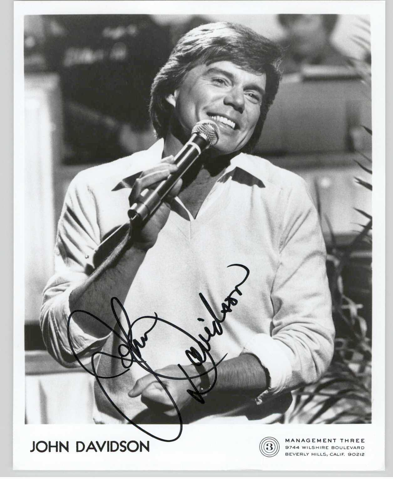 Primary image for John Davidson Signed Autographed Glossy 8x10 Photo