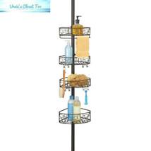 InterDesign Twigz Metal Wire Tension Rod Corner Shower Caddy, Adjustable... - $42.60