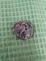 Unique Decorative Pin Copper Tone Turtle, Starfish W/Diamond, Angel Fish Silver  image 3