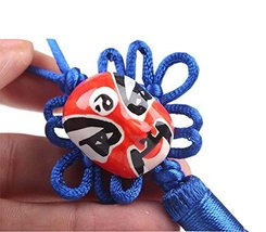 PANDA SUPERSTORE 2 Pieces of Creative Car Ornaments Chinese Knot Pendant, Deep B