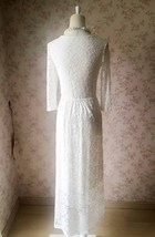 Ivory White Lace Boho Dress Wedding Dresses Bohemian Wedding Dress BOHO WEDDING image 6
