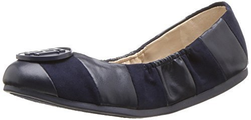 Tommy Hilfiger Women's Emi Ballet Flat, Navy, 8.5 Medium US