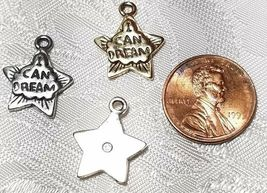 I CAN DREAM STAR FINE PEWTER PENDANT CHARM - 15x18x2mm image 3