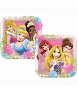 Disneys Princess Fanciful Dinner Lunch Plates 8 Per Package Birthday Par... - $4.46