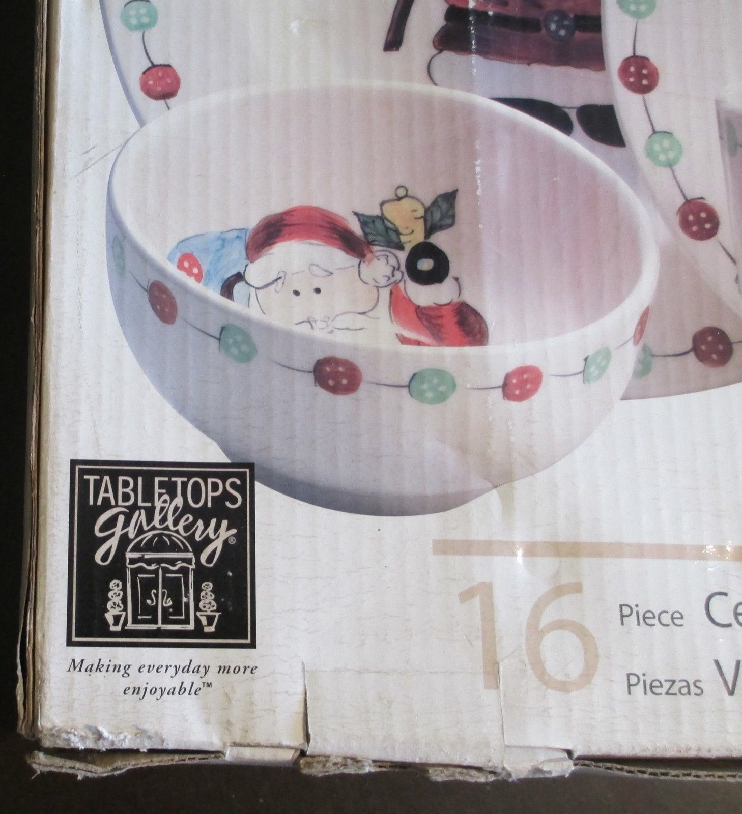 Tabletops Gallery Button Santa Boxed Set of 16 Plates, Bowls and Mugs image 2