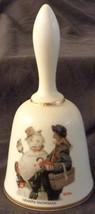 Grandpa Snowman Norman Rockwell - 1975 Danbury Mint Collectible Bell - VGC COA - $26.72