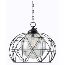 Cavea Bronze 1-Light Outdoor Hanging Pendant - $59.39
