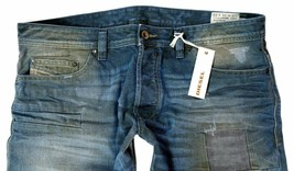 Brand New Diesel Men's Denim Regular Slim Straight Distressed Jeans Safado 0884B image 2
