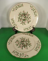 Lenox PRESIDENTIAL SPECIAL Service Plate Charger (s) LOT OF 2 Holiday Cr... - $64.30