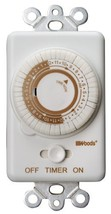 Woods 59745WD In-Wall 24-Hour Mechanical Timer That Converts A Wall Ligh... - $15.46