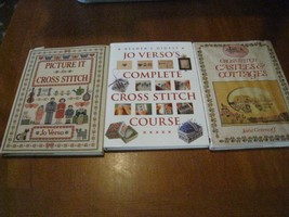 cross stitch books (3 hardcover) Picture It In JO VERSO Complete Course ... - $13.83