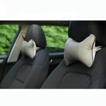 Pu Leather Car Rest Neck Pillow Headrest Cushion Auto Seat Memory Foam S... - $203,83 MXN